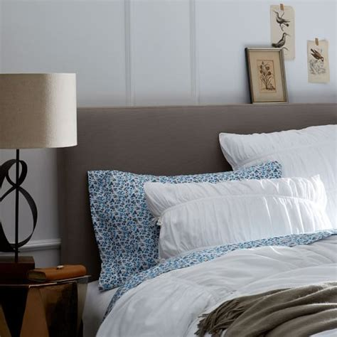 Easy Fabric Headboard by Simple Upholstered Headboard West Elm