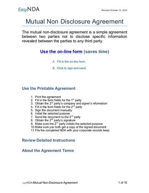 nda template for startup easynda non disclosure agreement printable v1 1000