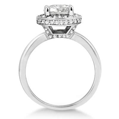 floating halo engagement ring setting palladium 0 40ct
