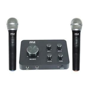 home theater karaoke microphone system connects  tv