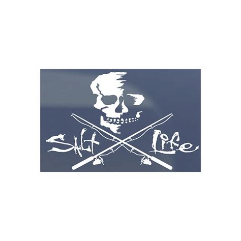 salt decal salt skull and poles decals