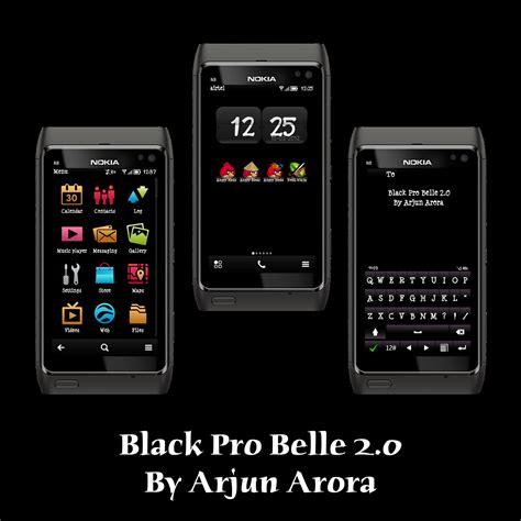 themes nokia store arjun arora themes black pro belle 2 0