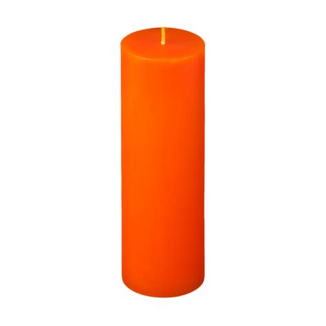 Vases For Centerpieces For Weddings 2x6 Orange Pillar Candle