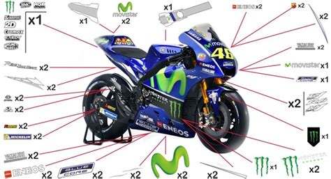Yamaha Yzf R6 Aufkleber by Stickers Yamaha Movistar Motogp 2017 Yzf R6 Abs 2017 2018