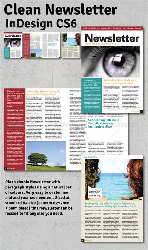 indesign newsletter templates free 17 best images about newsletter print on