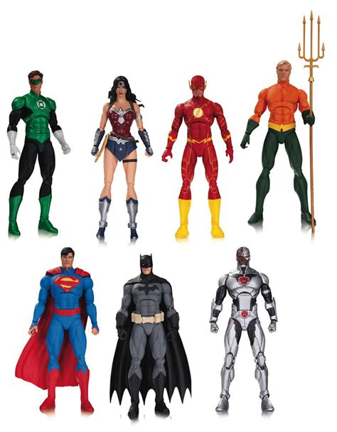 s 7 figures justice league of america figures by dc