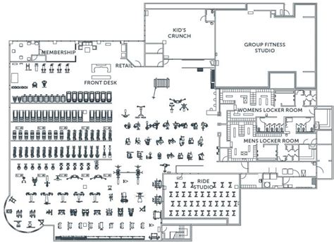 la fitness floor plan crossfit gym plans google search gyms pinterest
