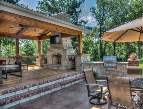 building an outdoor room outdoor living rooms traditional patio st louis by