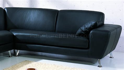 black top grain leather upholstery modern sectional sofa