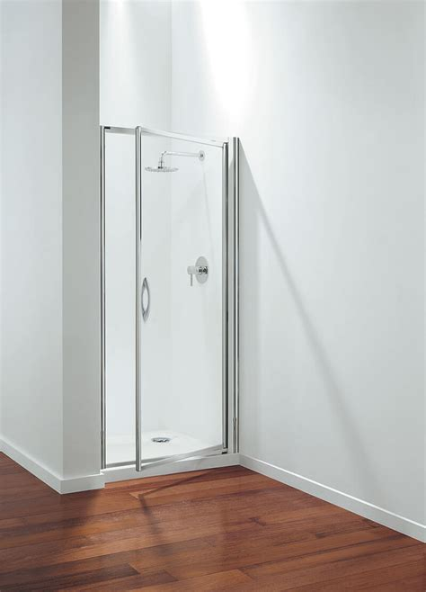 Coram Shower Doors Coram Optima Pivot Door Shower Enclosure 760mm Plain Glass
