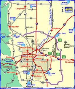 denver colorado maps map of denver metro area cities