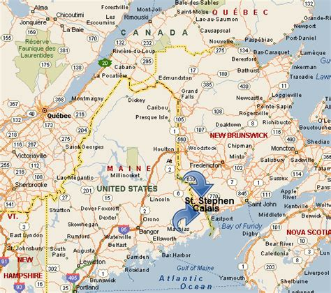 map of maine usa and new brunswick canada korner antiques regional map