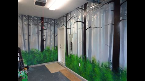 paint  misty forest mural  spray paint youtube