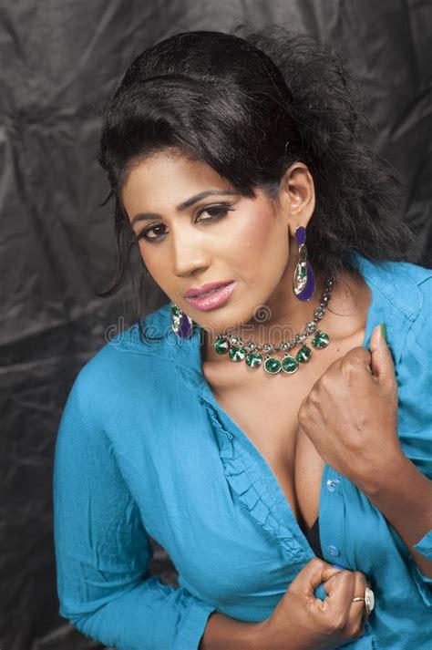 sri lanka hair women s forum beautiful srilankan hot model stock image image of