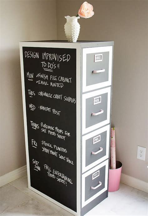 diy file cabinet makeover 50 clever craft room organization ideas sewing notions