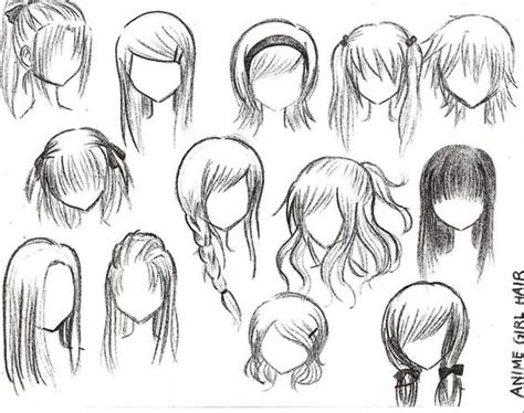 cute easy hairstyles to draw how to draw female anime hairstyles girls rockers and manga