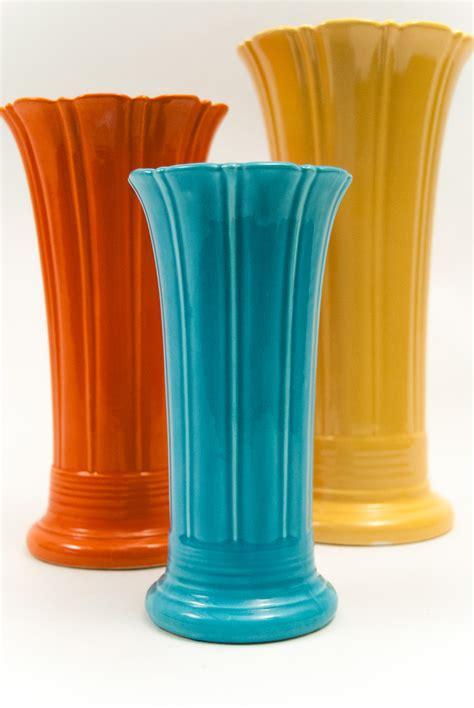 Fiestaware Vase by Vintage 10 Inch Original Turquoise Fiestaware
