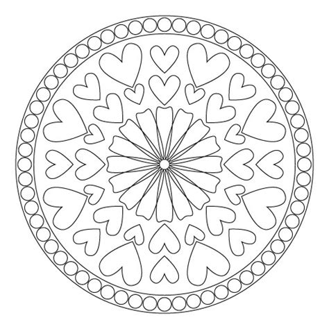 mandala coloring pages hearts coloring pages mandalas crafty ideas