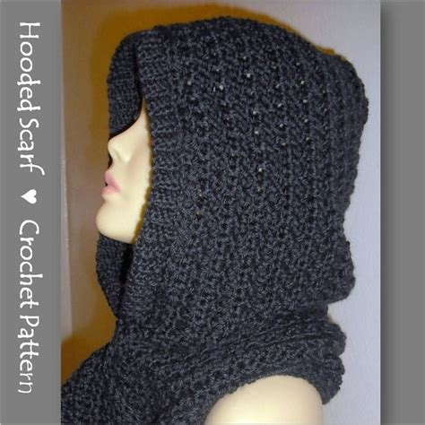 pattern crochet hooded scarf hooded scarf crochet pattern automatic download