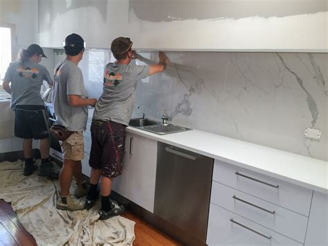 Backsplash Tile For Kitchen Kitchen Splashback Large Tile Seq Tiling And Cladding