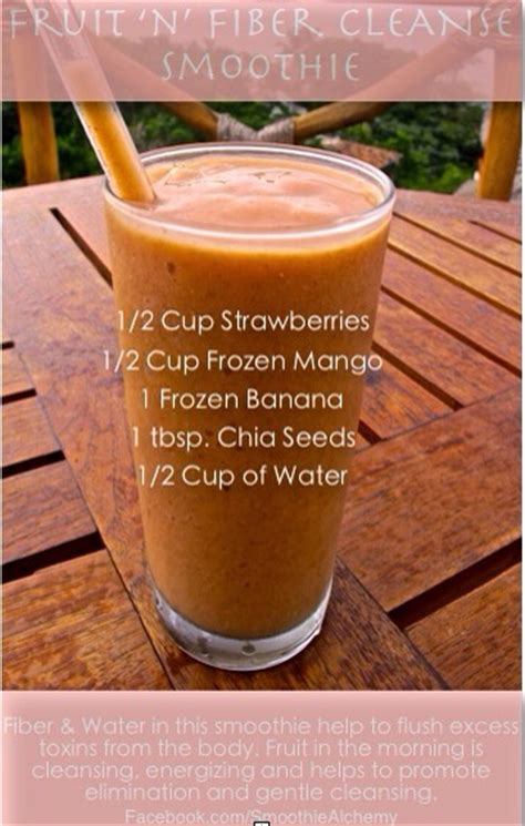 Strawberry Banana Detox Cleanse by Fruit N Fiber Cleanse Smoothie Trusper