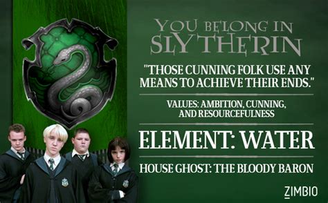 slytherin which hogwarts house do you belong in zimbio