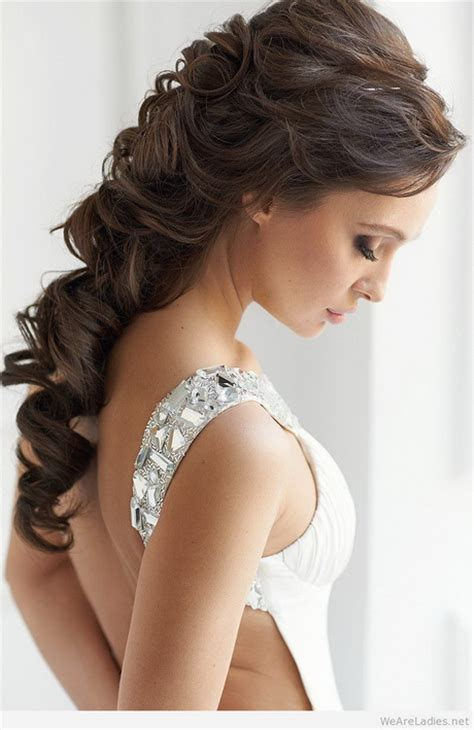 Wedding Hairstyles For Gowns by Hairstyles 1 Shoulder Dress