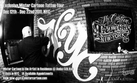 cartoon tattoo new york vans logo tattoo