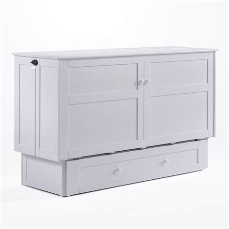 murphy bed cabinet clover queen murphy cabinet bed white by night day furniture