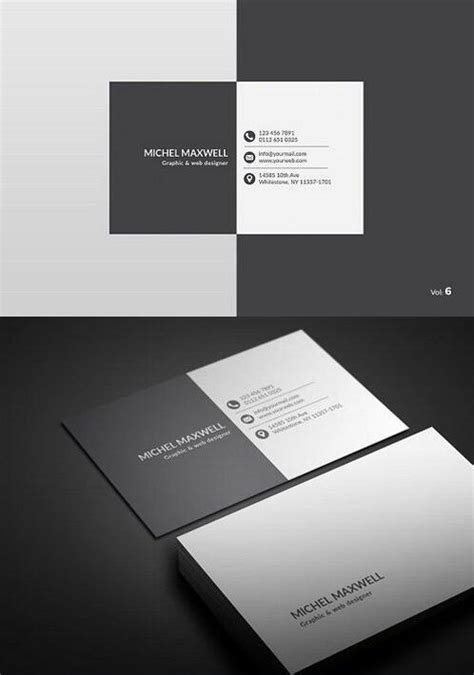 white and black business card psd template life psd file