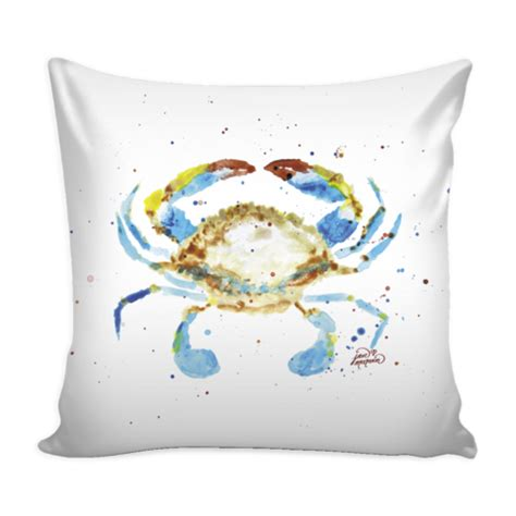 blue crab pillow cover 16 quot x 16 quot jan marvin studio