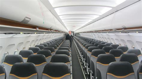 airbus a320 cabin new colours and cabin for a320 fleet of cook belgium