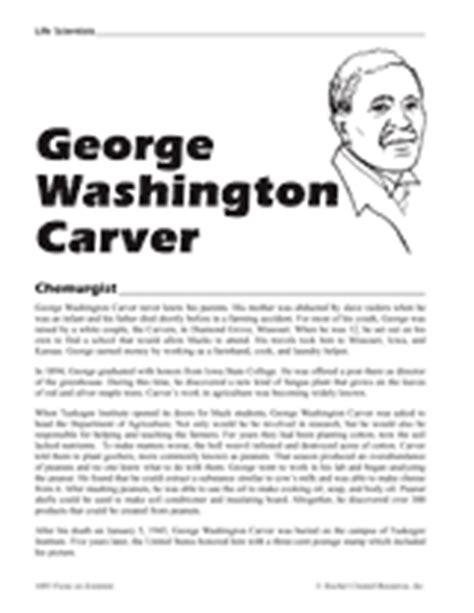 george washington biography for middle school students george washington carver printable 4th 8th grade