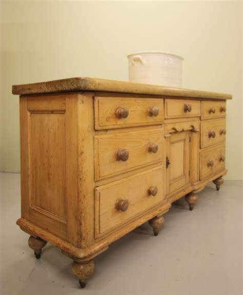 Antique Pine Dresser by 19thc Antique Pine Kitchen Dresser Base 197528