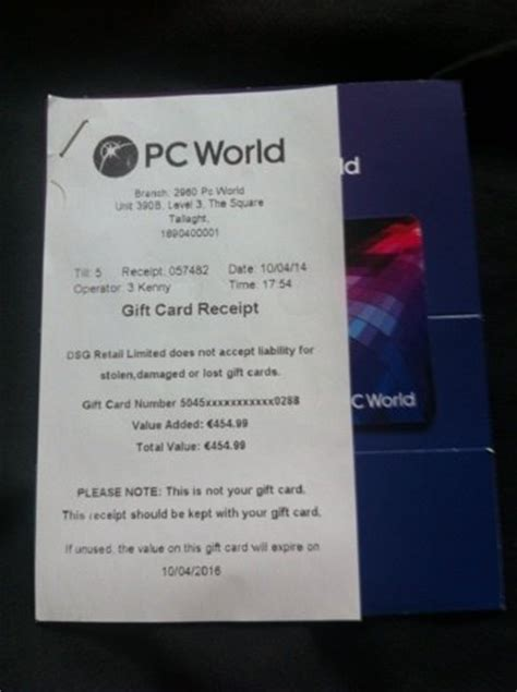 Pc World Gift Card - currys pc world gift card value 454 for sale in dublin 8 dublin from broughall