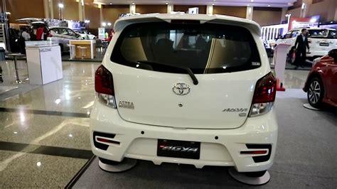 toyota agya type g 2018 white colour exterior and