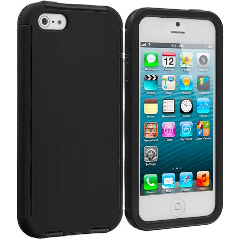 Apple Iphone 5 5s 5se Hybrid Shock Proof Slim Armor Soft Casing 1 for apple iphone 5s 5 hybrid shockproof cover w built in screen protector ebay