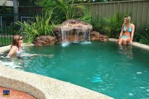 how to build a waterfall into a pool inspirational do it yourself pool waterfall 82 with do it