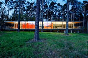 Glass Box House by See Though Glass Box House Has Best Views Of The Forest