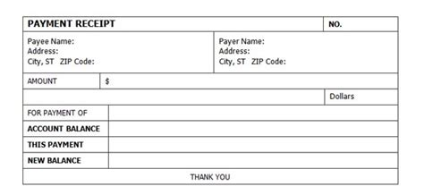 account receipt template simple and professional receipt of payment form template