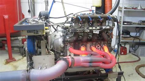 mazda r26b 4 rotor engine dyno glowing header