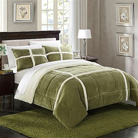 green comforter sets buy chic home camille 7 piece queen comforter set in green