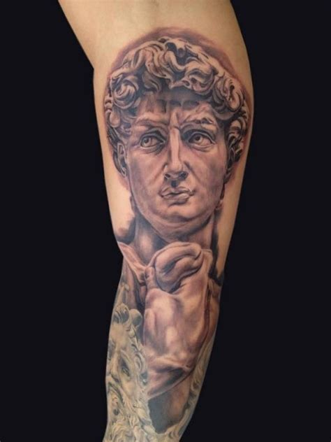 michelangelo s quot the david quot by rudy lopez tattoonow