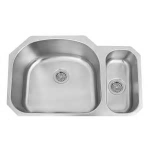 kitchen sink offset drain undermount 32 quot infinite 80 20 offset double bowl stainless steel