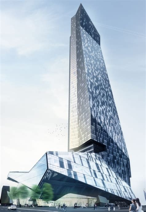 Embassy Floor Plan by Hanking Center Tower By Morphosis Architects