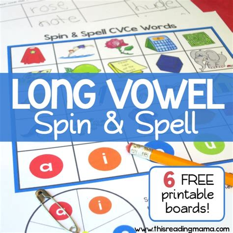 spelling pattern le games long vowel spelling game cvce words spin and spell