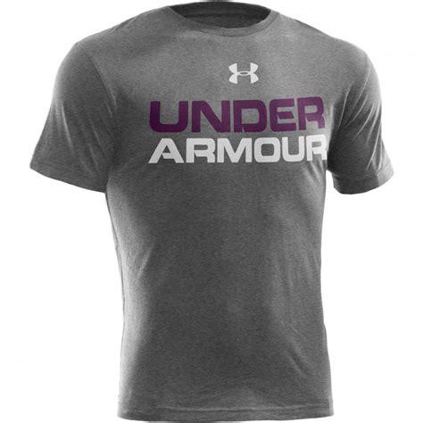 design t shirts under armour koszulka termo short sleeve under armour wordmark senior