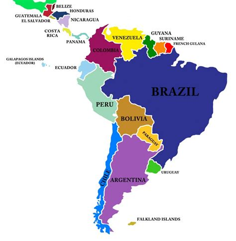 Search South America South America Map Buscar Con Cities Countries