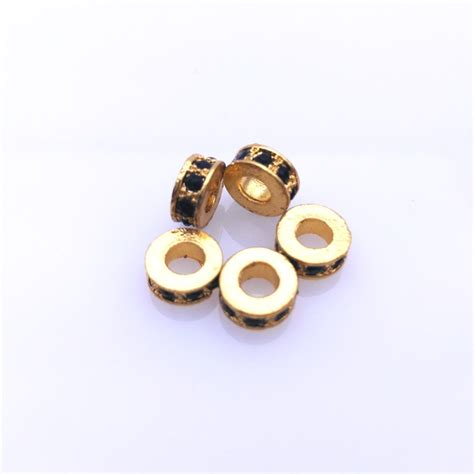 spacers for jewelry diy jewelry spacer gold plated micro pave zircon