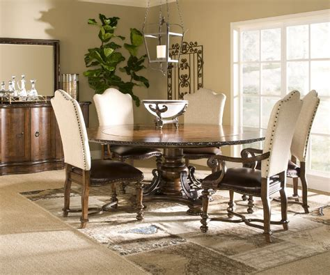 Upscale Dining Room Furniture by Wood Dining Table With Upholstered Chairs Winda 7 Furniture